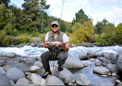 Regenbogenforelle Tongariro River NZ, Highland Fishing
